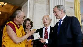 Live Webcast of the Dalai Lama receiving Gold Medal - New